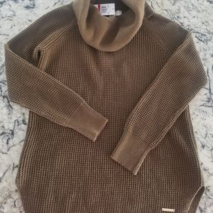 Chunky Duffle Sweater in olive green. New w/tags.